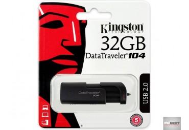 Pen USB KINGSTON Data Traveler 104 (32 GB - USB 2.0 - Preto)